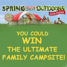 Little Debbie: win an Ultimate Family Campsite