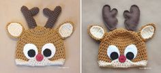 Last year I posted a crochet Rudolph the Reindeer hat pattern (pattern HERE) which was embellished with felt eyes and antlers. Although I absolutely love the look of the…