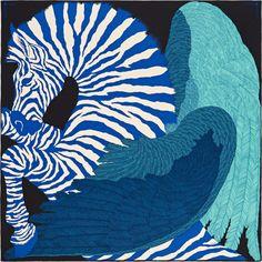 La Maison des Carrés Hermès   Zebra Pegasus Foulard Carré, Maison Hermes,  Carré Hermes 1f823cde0a8