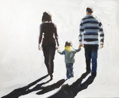 Family Outing - Art Print - 8 x 10 inches - from original painting by J Coates by JamesCoatesFineArt on Etsy