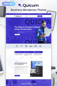 Create a modern website with an intuitive interface and a stylish appearance using Quicum theme. You will be able to present your business consulting services Wordpress Template, Wordpress Theme, Graphic Design Trends, Web Design, Modern Website, Investment Firms, Website Template, Creative Business, Ads