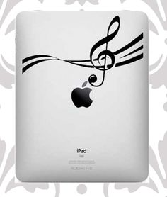 Ipad decal - music notes    cant wait to get one of these this year <3