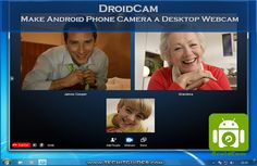 Use Android Camera as Desktop Webcam for Video Calls on various services like Skype, Hangouts using DroidCam App, Make phone camera a Computer webcam Phone Photography, Mobile Photography, Photography Tips, Android Camera, Camera Phone, Android Hacks, Best Android, Computer Problems, Photography Institute