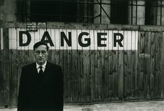 "Danger Series"", William Burroughs in front of the Théatre Odeon, Paris Octobre, 1959 | Brion Gysin"