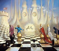 vladimir fedotko new works | Vladimir Kush - Vladimir Kush Chess art Painting