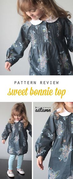 I can't wait to make this! Sweet Bonnie top sewing pattern.