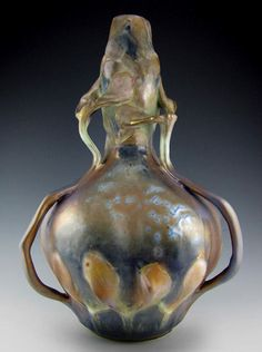 Amphora-pottery The Amphora porcelain works existed from 1892-1945 in the Teplitz-Turn area of Bohemia, a part of Austro-Hungary.