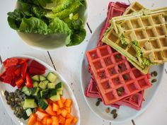 Healthy Recepies, Healthy Food, Waffle Iron, Tapas, Food To Make, Snack Recipes, Brunch, Food And Drink, Vegetarian