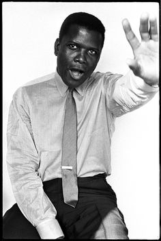 Sidney Poitier photographed by Brian Duffy, 1965. °