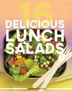 16 Delicious Lunch Salads | Martha Stewart Living - All of these lunch salads are perfect for packing and taking to work or school, or on a picnic. Choose from 20 recipes, including favorites such as salade Nicoise, Waldorf salads, Asian noodle salad, and chicken salad.
