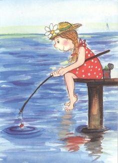 Illustration by Virpi Pekkala Art And Illustration, Draw Character, Gif Animé, Digi Stamps, Heart Art, Mail Art, Whimsical Art, Drawing For Kids, Artist Art