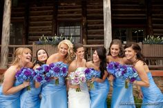 Like the blue bouquets