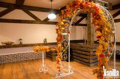 Рустикальная осенняя свадьба |выездная церемония
