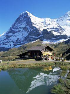 Hier was ik! The Eiger, Kleine Scheidegg, Bernese Oberland, Swiss Alps, Switzerland