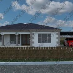 This Tuscan designed Single Storey 4 Bedroom House Plan Boasting Full Master Suite with Wall Units, Three Standard Bedrooms, Bathroom, Open Plan Dining and Kitchen with No Scullery, Living Room and Double Garage My Building, Building Plans, Home Design Plans, Plan Design, Architect Fees, 6 Bedroom House Plans, Floor Layout, Double Garage, Open Plan Living