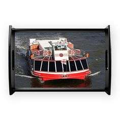 Cruise boat, River Thames, Lond Small Serving Tray on CafePress.com