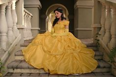 Go to Disney during Halloween and dress as Belle in the beautiful dress. Beauty and  the Beast  Belle Adult Cosplay by AddictedToMagic, $450.00