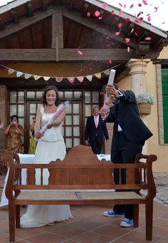 banderines de ganchillo para boda