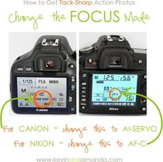 Photography Tutorial: A Quick Guide to Understanding Your DSLR Camera How to Get Tack-Sharp Action Photos, this is perfect. I have been wondering what Al-Servo is, and apparently it isn't some spanish direction. Photography 101, Photoshop Photography, Camera Photography, Photography Tutorials, Photography Reflector, Wedding Photography, Photography Classes, Digital Photography, School Photography