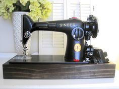 The Project Lady: Singer Sewing Machine Wood Base Tutorial