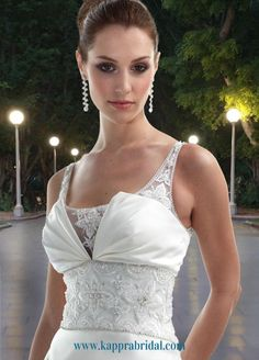 Style 8425 » Wedding Gowns » DaVinci Bridal » Available Colours : Ivory/Silver, Ivory/Ivory, White/Silver, White/White (close up)