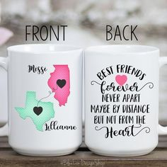 Friddle - Welcome my homepage Best Friend Crafts, Best Friend Mug, Friend Mugs, Bff Gifts, Gifts In A Mug, Gifts For Friends, Gift Mugs, Friend Gifts, Long Distance Mugs