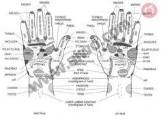 Reflexology points on Hands