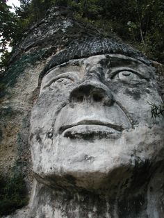 This is in Isabela, PR. This sculpture, representing the face of a taíno indian…