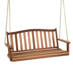 Belham Living Richmond Curved Back Porch Swing - The Coral Coast Richmond Curved Back Porch Swing is what relaxing is all about. With all hanging hardware included, this swing offers a fast assembly...