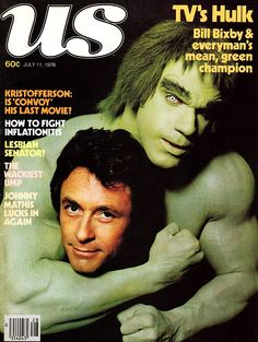 US magazine (July 11, 1978) — Lou Ferrigno & Bill Bixby in The Incredible Hulk (1977-82 CBS, NBC)
