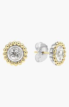 Women's LAGOS Stone Stud Earrings - White Topaz