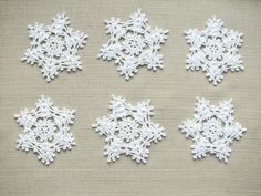 Christmas decors Crochet snowflakes Christmas ornaments