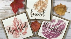 Stamping Real Leaves with Distress Oxide Inks - YouTube