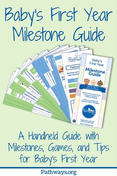 Baby First Year Milestone Guide features over 90 developmental milestones with pictures and 200 tips and activities to help baby reach those milestones.