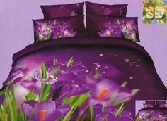 Obrączki na kwiatach modna fioletowa pościel
