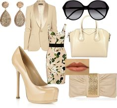 """From day to evening....Nude is the new black!"" by damikacolbert on Polyvore"
