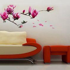 grote magnolia bloemen muurschildering kunst muur sticker stickers