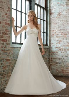 moonlight collection fall 2013 style j6275 strapless wedding dress