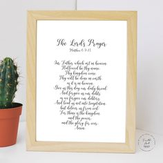 The Lord's Prayer, Our Father which art in heaven. Matthew KJV, Bible Verse, Wall Art Decor, Digital Print by FaithArtShoppe Wall Art Decor, Wall Art Prints, Thy Will Be Done, Lord's Prayer, Matthew 6, Mug Printing, Daily Bread, Printed Materials, Bible Verses