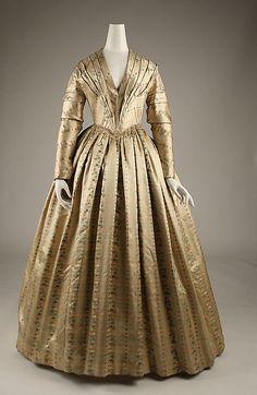 Dress  Date: ca. 1843 Culture: American Medium: [no medium available] Dimensions: [no dimensions available] Credit Line: Gift of Mrs. W. Bayard Cutting, 1940 Accession Number: C.I.40.106.38