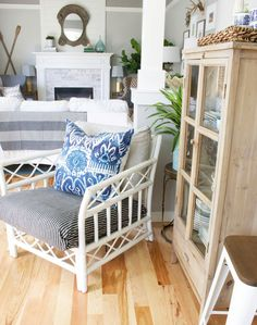 Rattan & Bamboo Accent Furniture {Classic & Trending} - The Inspired Room