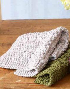 Free Knitting Pattern 90386 Plum Beach Washcloth : Lion Brand Yarn Company