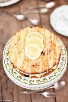 Raspberry Limoncello Cake with Mascarpone | VIKALINKA