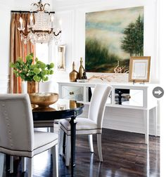 love the chandelier and painting