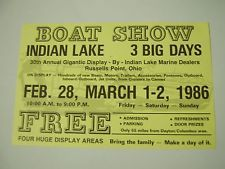 ADVERTISING Postcard for the 1986 BOAT SHOW, Russells Point, Indian Lake, Ohio