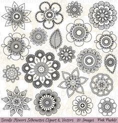 Check out Doodle Flowers Clipart and Vectors by PinkPueblo on Creative Market