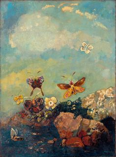 scenery-abstract-canvas-painting-still-life-mural-font-b-prints-b-font-Butterflies-By-font-b.jpg (750×1015)