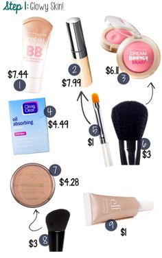 How to get glowy looking makeup ;).