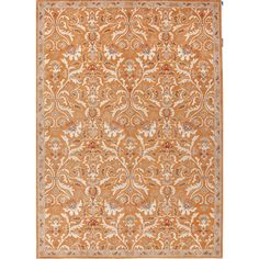 Spice up your home decor with this transitional area rug. Hand-tufted with plush, pure wool, this eye-catching and durable rug features a bold orange background with creamy ivory accents in a gorgeous oriental pattern.