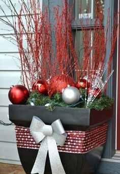 christmas basket outdoor decorationschristmas